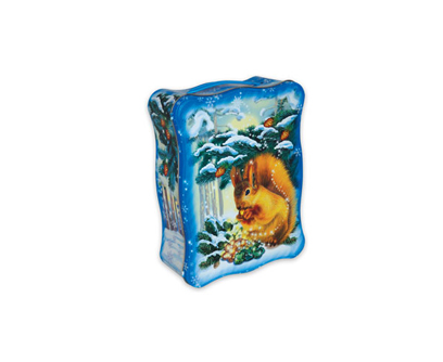 Упаковка новогодняя из жести Белочка