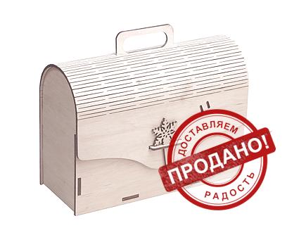 Новогодняя упаковка - Сундук для подарков большой 1500-2000г.