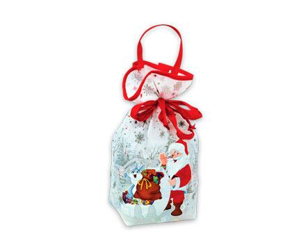 Упаковка новогодняя из текстиля Мешочек белый малы
