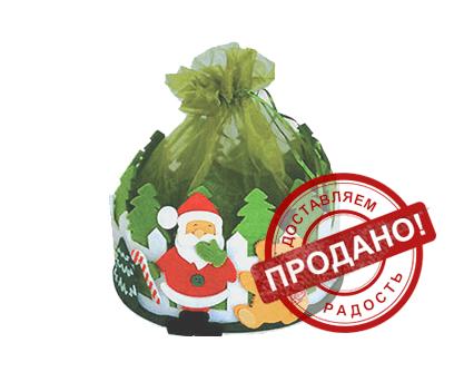 Упаковка новогодняя из текстиля - Дворик зеленый