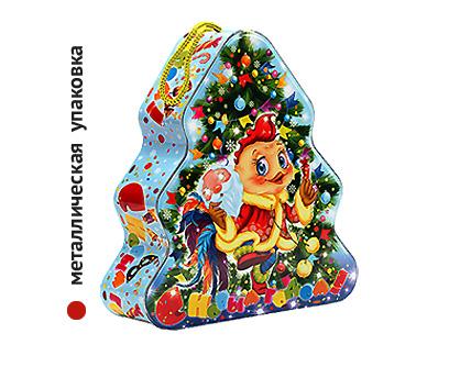 Упаковка новогодняя из жести Ёлочка