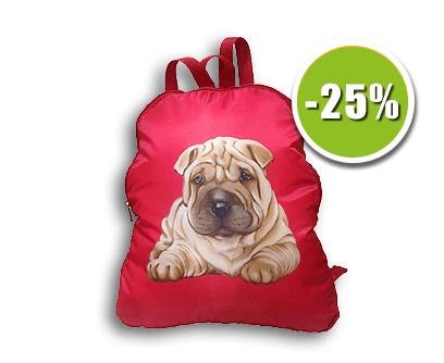 Текстильная новогодняя упаковка - рюкзак Шарпей