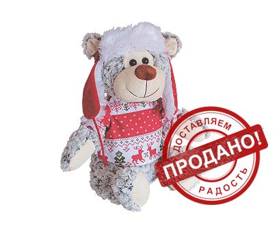 Текстильная новогодняя упаковка - Снежок