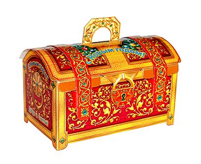 Упаковка новогодняя Сундук красный