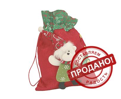 Упаковка новогодняя из текстиля - Звездный мешочек